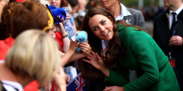 Kate Middleton Stuns In Green Erdem Coat For Cambridge, New Zealand Visit