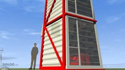 LOOK: STANDING Shipping Container