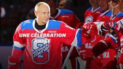 Vladimir Poutine célèbre sa victoire au hockey... et