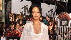 Rihanna Wears Lingerie At MTV Movie