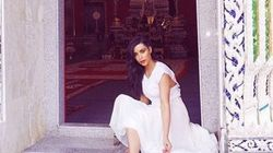 Kim K Visits Buddhist Temple In A Sexy Dress, No