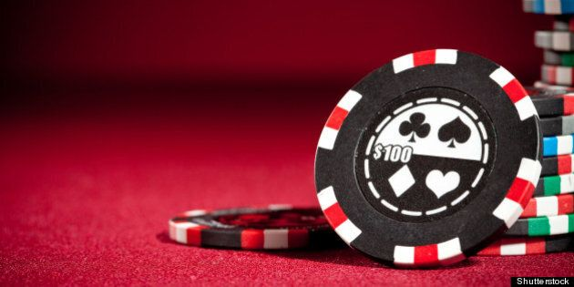 casino gambling chips with copy