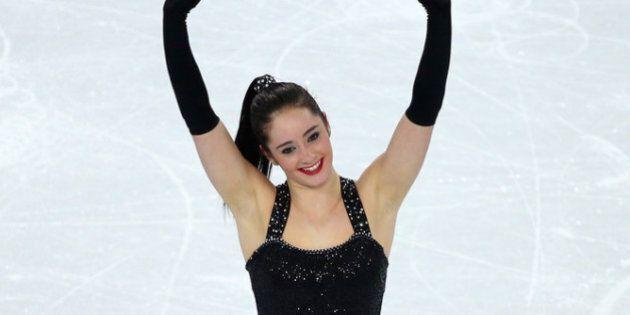 SOCHI, RUSSIA - FEBRUARY 19: Kaetlyn Osmond of Canada competes in the Figure Skating Ladies' Short Program...