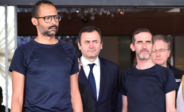 Laurent Lassimouillas (àgauche) et Patrick