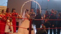 Couple Says 'I Do' In Wrestling