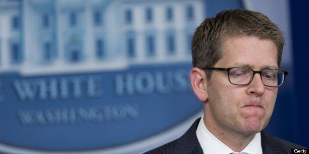 White House Press Secretary Jay Carney speaks during the daily press briefing in the Brady Press Briefing...