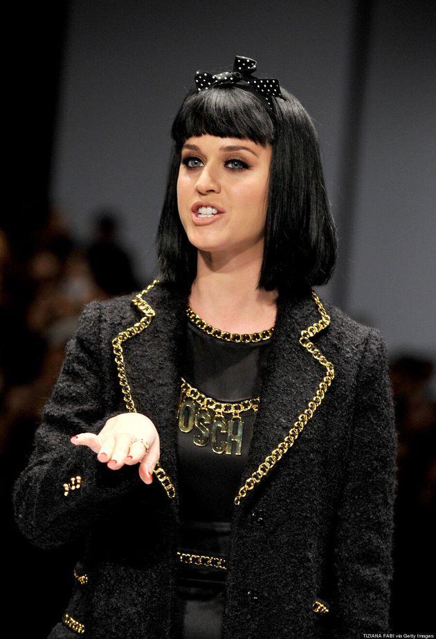 Katy Perry Walks Moschino Show At Milan Fashion Week