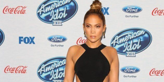 WEST HOLLYWOOD, CA - FEBRUARY 20: Jennifer Lopez attends the FOX's 'American Idol XIII' Meet The Finalists...