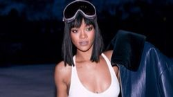 Rihanna Channels Kate Upton In White