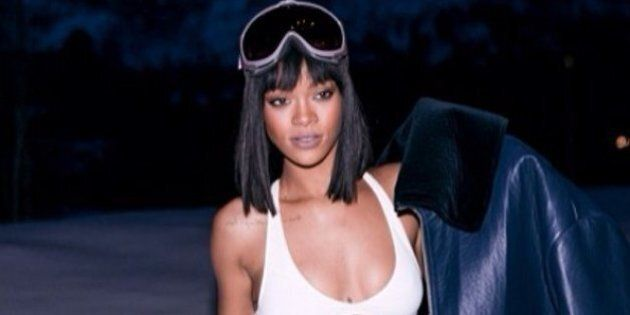 Rihanna Channels Kate Upton In Sexy White Bikini