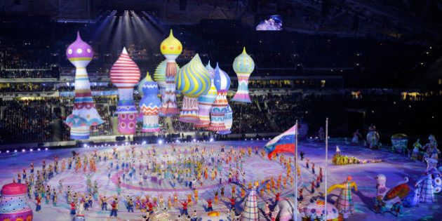 2014 WINTER OLYMPIC GAMES -- 'Opening Ceremony' -- Pictured: Opening ceremony of the 2014 Sochi Winter...