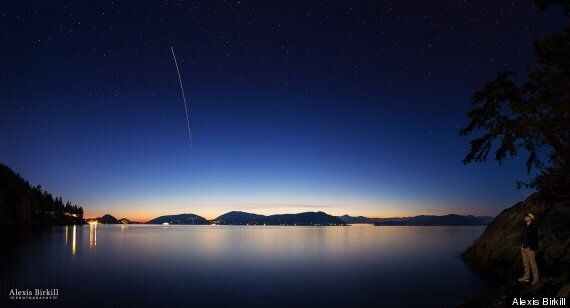 Space Station Photo Over Vancouver Is