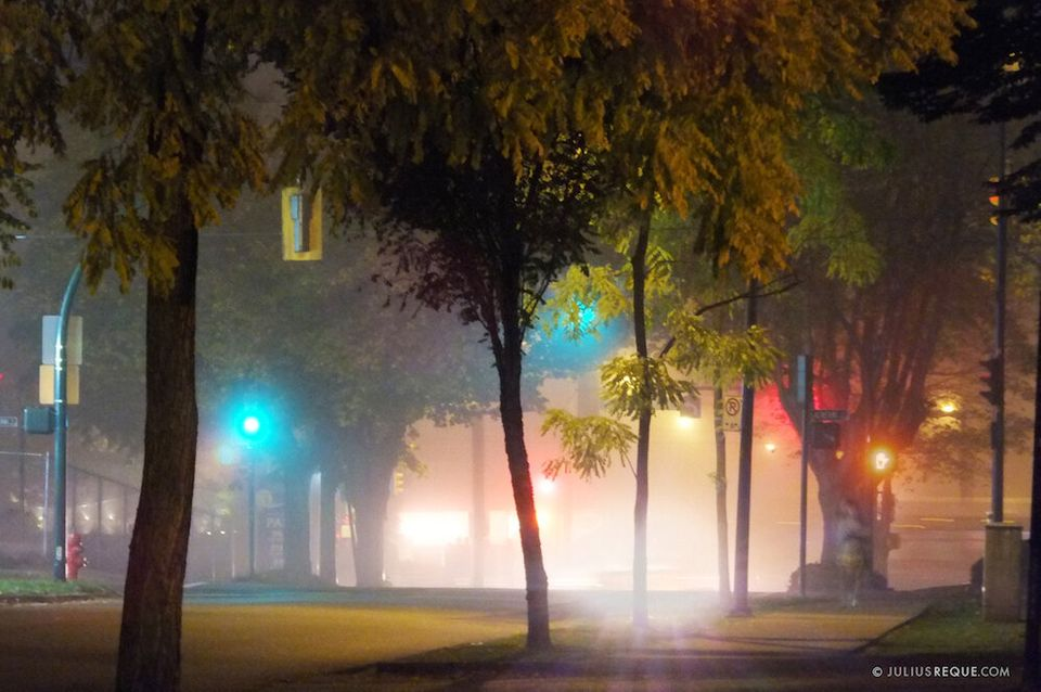 This gallery shows a series of photos of a deep fog that hit Vancouver in October 2013.