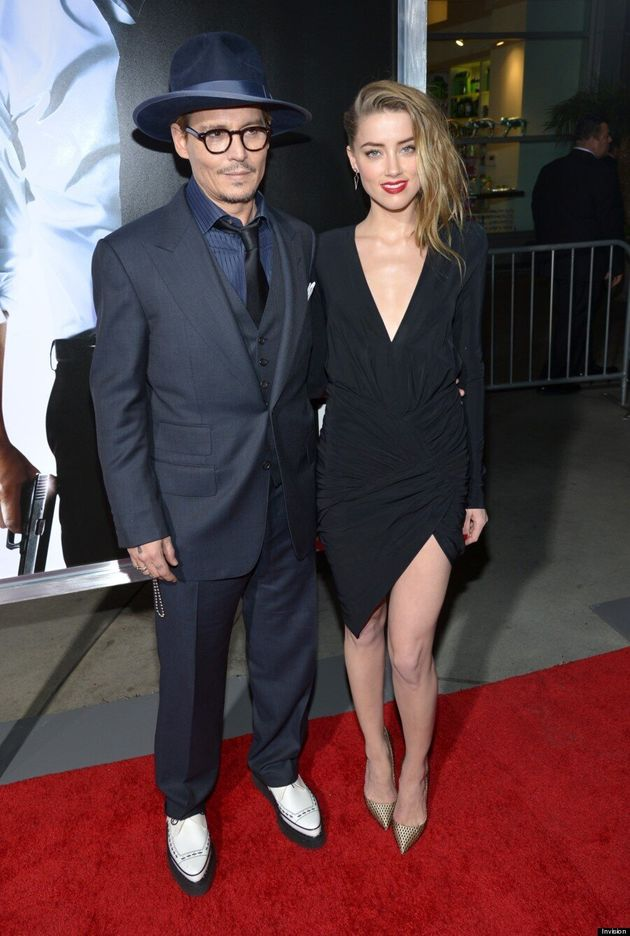 Johnny Depp And Amber Heard Most Stylish Couple At '3 Days To Kill' Premiere
