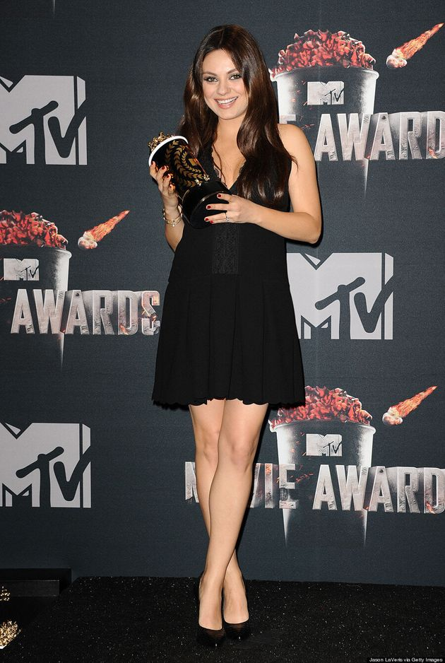 Mila Kunis Can't Hide Baby Bump At 2014 MTV Movie Awards