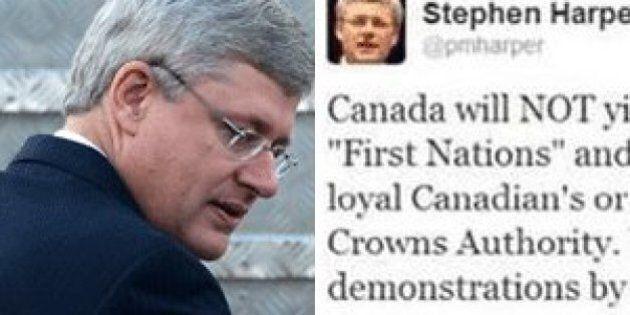 Harper 'Tweet' About First Nations Just A Hoax, Spokesperson