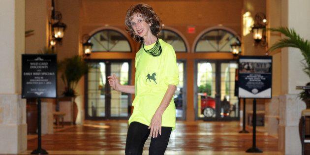 Prancercise founder and internet sensation Joanna Rohrback demonstrates her ?springy, rhythmic way of...