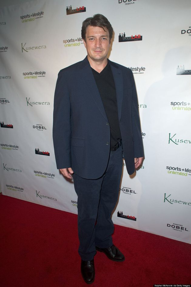 Nathan Fillion Can Rock A Blazer Like No Other At Kusewera Benefit