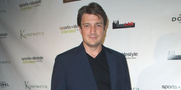 LOS ANGELES, CA - FEBRUARY 22: Actor Nathan Fillion attends Kusewera benefit party at The Loft on February...
