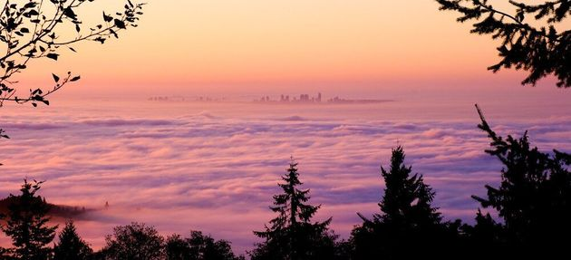 Vancouver Fog Gives City A New Look