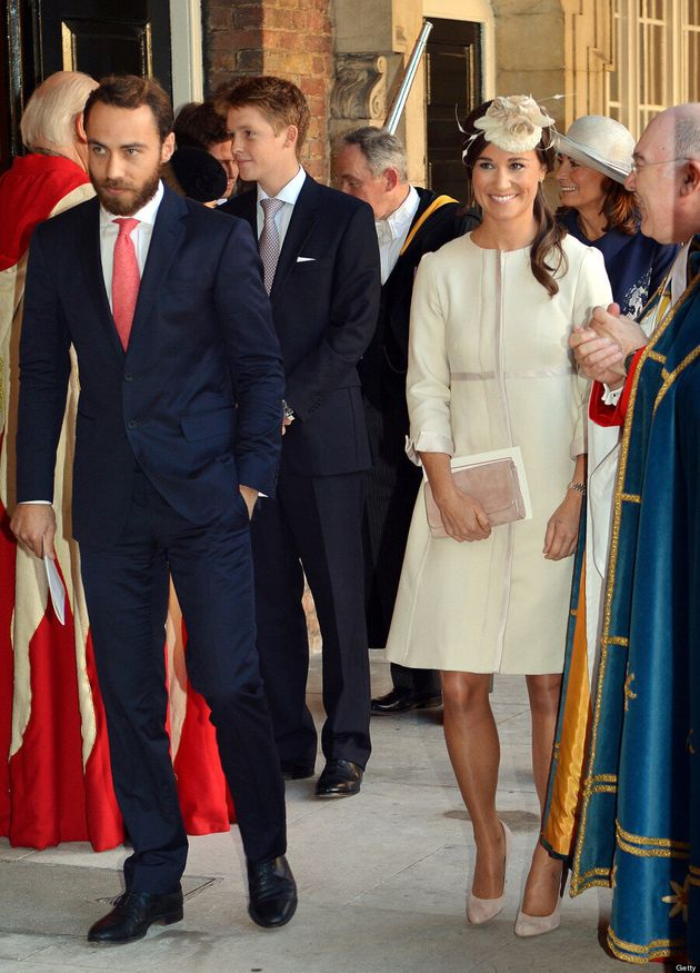 Pippa Middleton's Prince George Christening Outfit Matches Kate Middleton (VIDEO,
