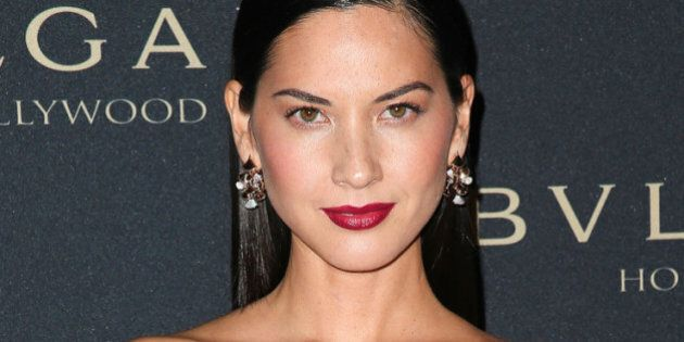 WEST HOLLYWOOD, CA - FEBRUARY 25: Actress Olivia Munn attends the BVLGARI 'Decades of Glamour' Oscar...