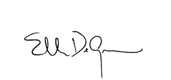 Ellen DeGeneres Is Generous: Her Name and Signature Say it