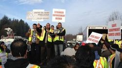 Over 1,000 Truckers Protest At Port Metro