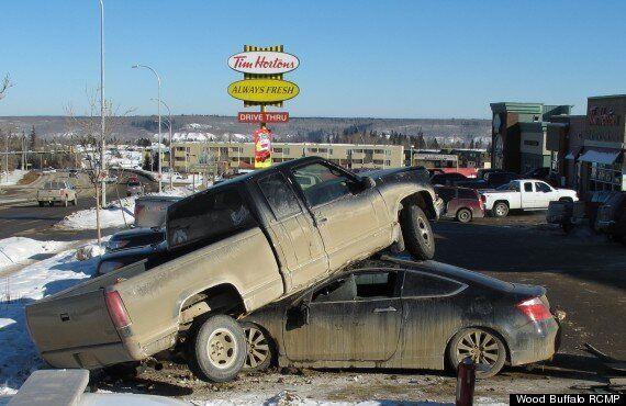 Tim Hortons Parking Job Goes Terribly Wrong,