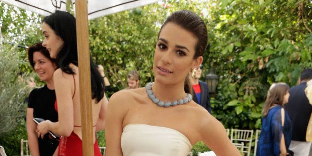 LOS ANGELES, CA - OCTOBER 23:  Actress Lea Michele attends the 2013 CFDA/Vogue Fashion Fund Event Presented by thecorner.com at the Chateau Marmont on October 23, 2013 in Los Angeles, California.  (Photo by Jeff Vespa/WireImage)