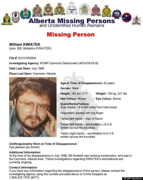 William Kwiatek Missing 25 Years: Missing Persons Report Filed For Man Quarter Century After