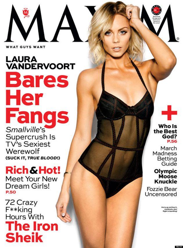 Laura Vandervoort's Maxim Cover Is Smoking
