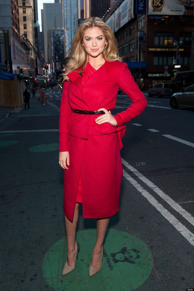 Kate Upton's Red Coat Is Chic And