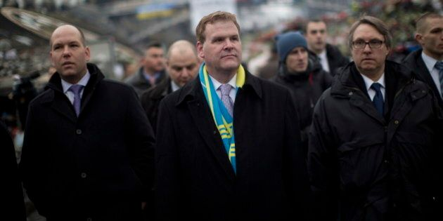 John Baird Meets New Ukrainian Prime Minister Arseny