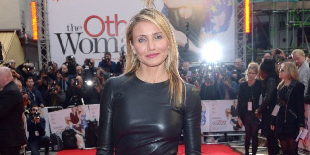 U.S. actress Cameron Diaz poses for photographers poses for photographers as she arrives for the gala...