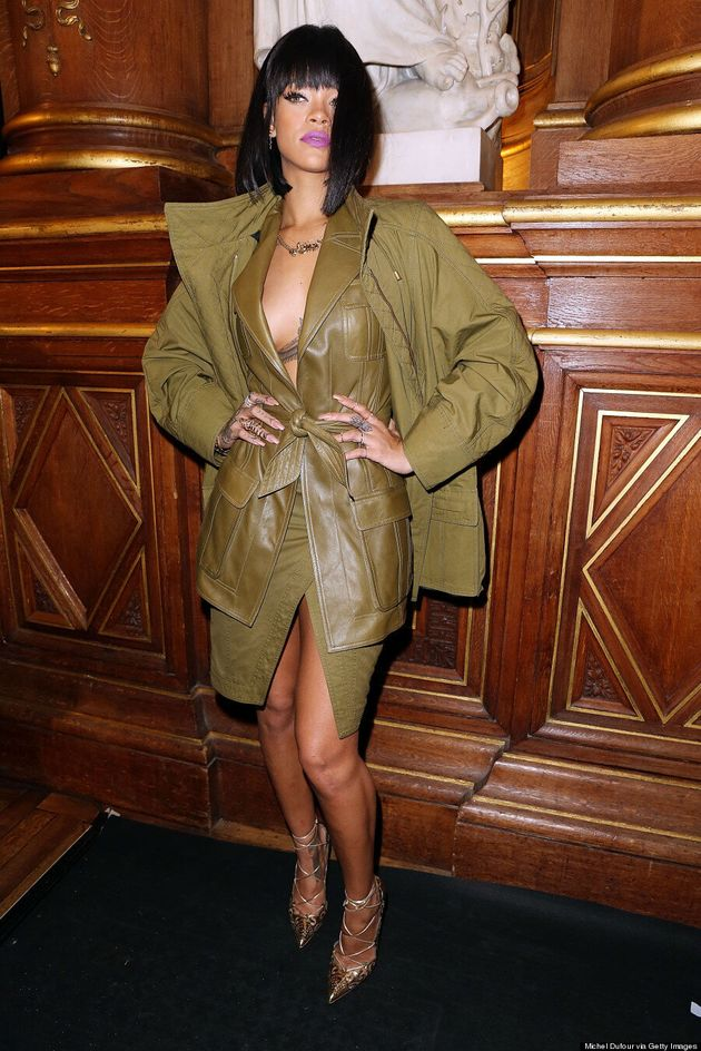 Rihanna's Leather Dress Doesn't Leave Much To The Imagination