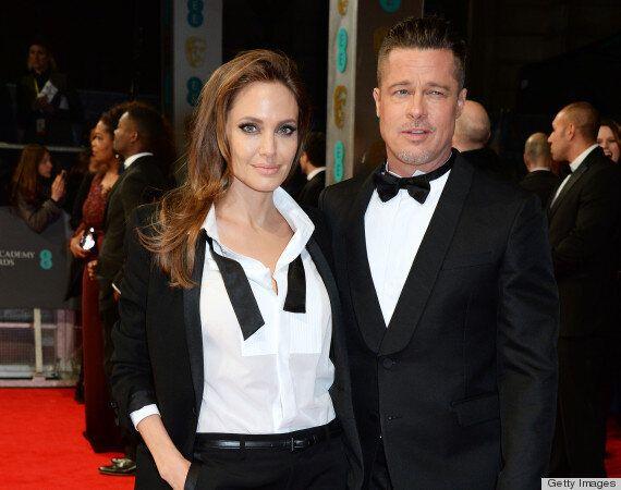 Angelina Jolie And Brad Pitt Wear Matching Tuxedos At 2014 BAFTAs