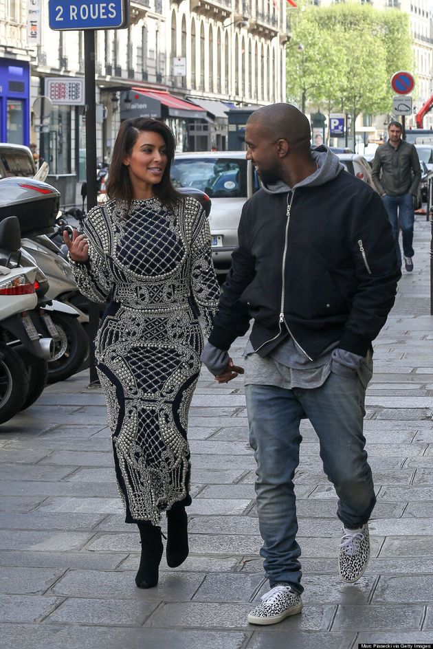 Kim Kardashian Wears Pearl-Encrusted Dress In Paris, As You