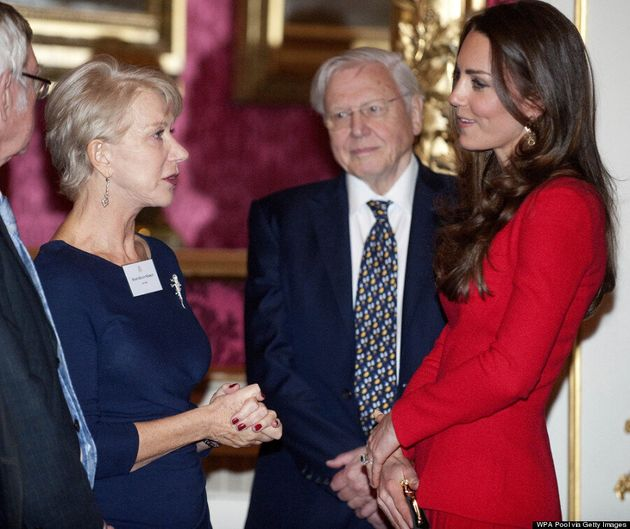 Kate Middleton Wears Repeat To Greet Dame Helen Mirren