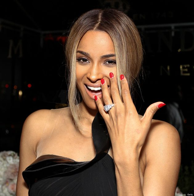 Ciara Debuts Engagement Ring In Sexy Cutout Dress