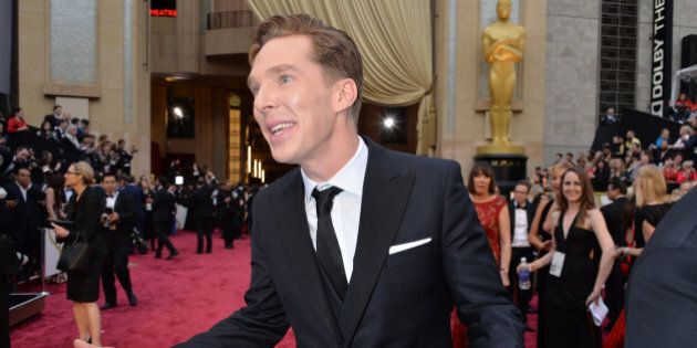 HOLLYWOOD, CA - MARCH 02: Actor Benedict Cumberbatch attends the Oscars held at Hollywood & Highland...