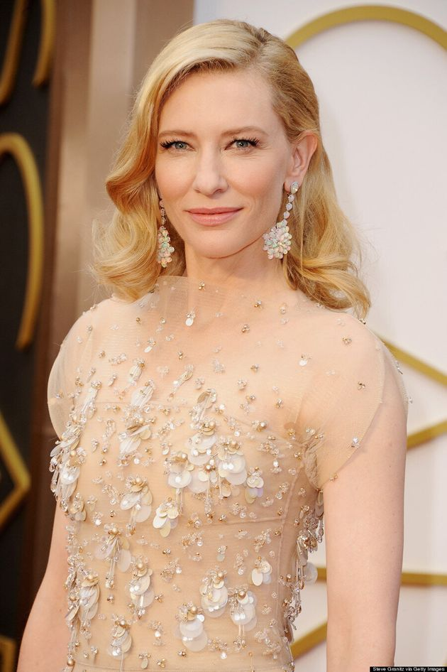 Cate Blanchett Oscars 2014: Armani Gown Washes Her Out Completely