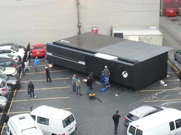 Xbox One Lands In Vancouver Parking Lot