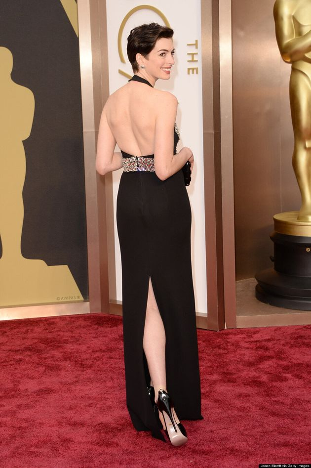 Anne Hathaway Oscars 2014: Gucci Armour Dress Doesn't Have Nipple Darts