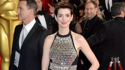 Anne Hathaway Wears Rhinestone