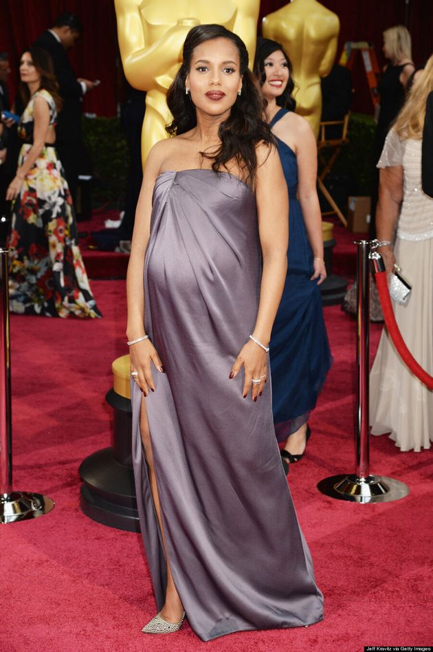 Kerry Washington Oscars 2014: Most Elegant Baby Bump At The Academy Awards