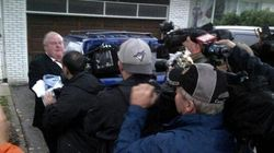 LOOK: Rob Ford Shoves Photographers Outside