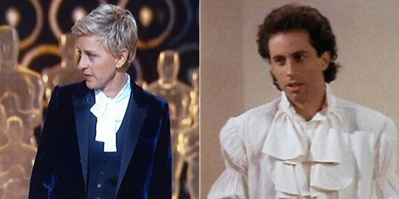 Ellen Found Seinfeld's Puffy Shirt Just In Time For For The