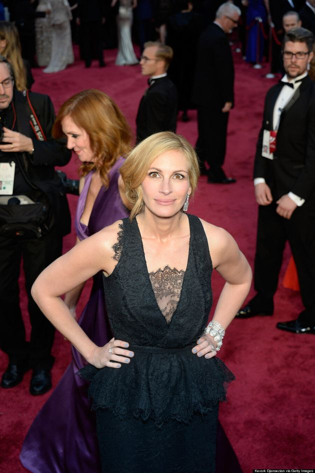 Julia Roberts' Oscar 2014 Peplum Dress Isn't Her Best Red Carpet Look
