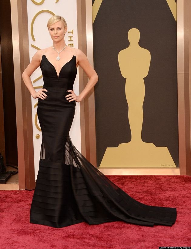Charlize Theron's 2014 Oscar Dress Is Her Sexiest Yet